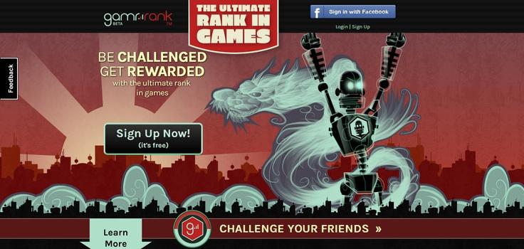 GamrRank Homepage