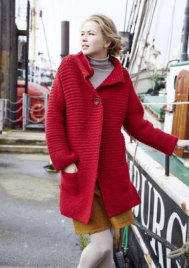 Lange jas met ribbels, S9393   Schachenmayr