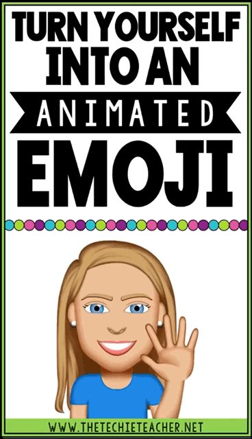 Turn yourself into an ANIMATED emoji to add to presentations or student projects. Bitmoji fans will love this free iOS app! THINK digital animated stickers for student work!