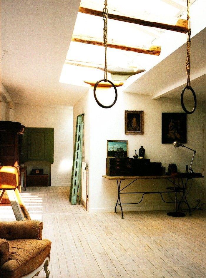 Vintage Gym Rings Indoors | Remodelista