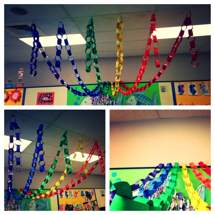 Ideas Of Classroom Decoration ~ Rainbow ribbons for dramatic play preschool spring