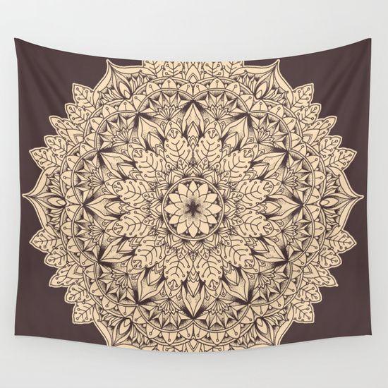 Mandala 2 Wall Tapestry by Joel Amat Güell - $39.00