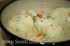 A classic southern comfort dish made of stewed chicken with fluffy drop dumplings has always been my favorite chicken and dumplings recipe.