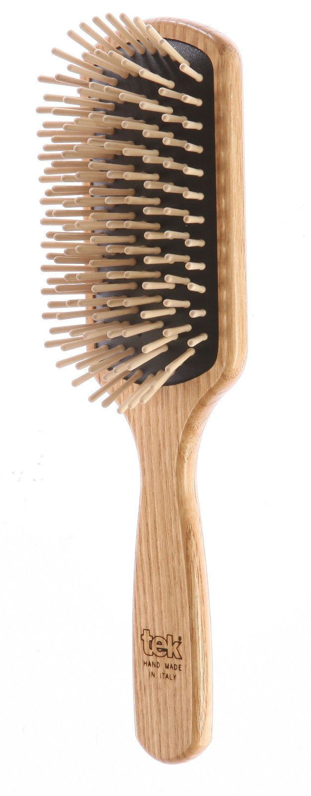 Wooden Hair Brush by Tek best for distributing hairs natural oils. A good thing to have for healthy hair.
