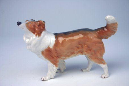 Meissen model of a collie...