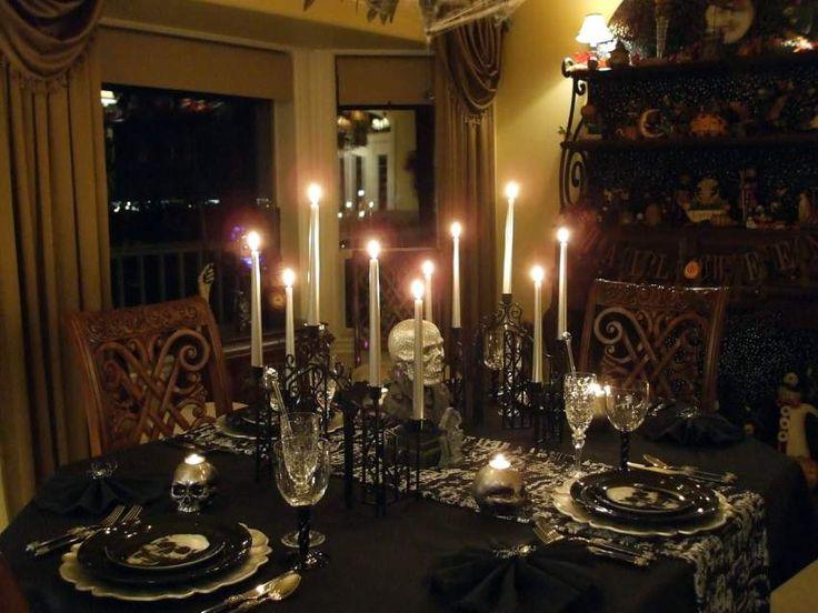 halloween table setting decorating - Halloween Table Setting