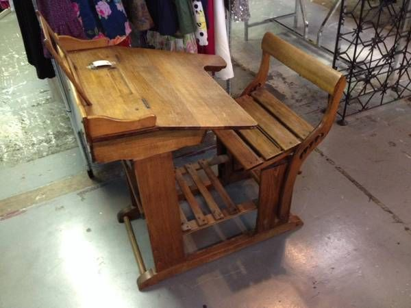 Antique School Desk $285 available at Smarty Pants Consignment! #desk  #consignment #Phoenix - 12 Best House Goals: Furniture Images On Pinterest Consignment