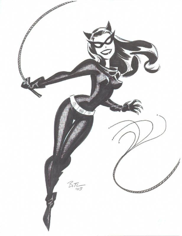 retro catwoman by bruce timm
