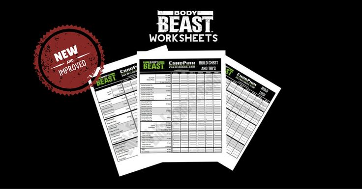 NEW AND IMPROVED BODY BEAST WORKOUT SHEETS!