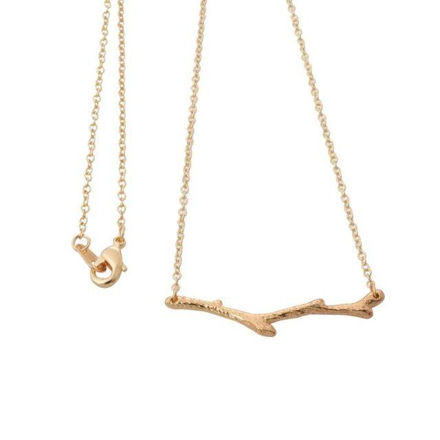 2016 Nouvelle Or et Argent Simple Branche D'arbre Brindille Pendentif colliers pour les Femmes Jolie Plante Membre À Longue Chaîne Couple Collier XL146