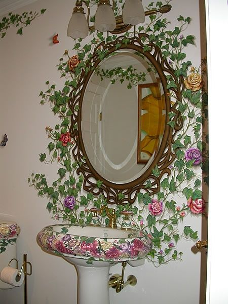 Bathroom Mirror Mural, Suffield