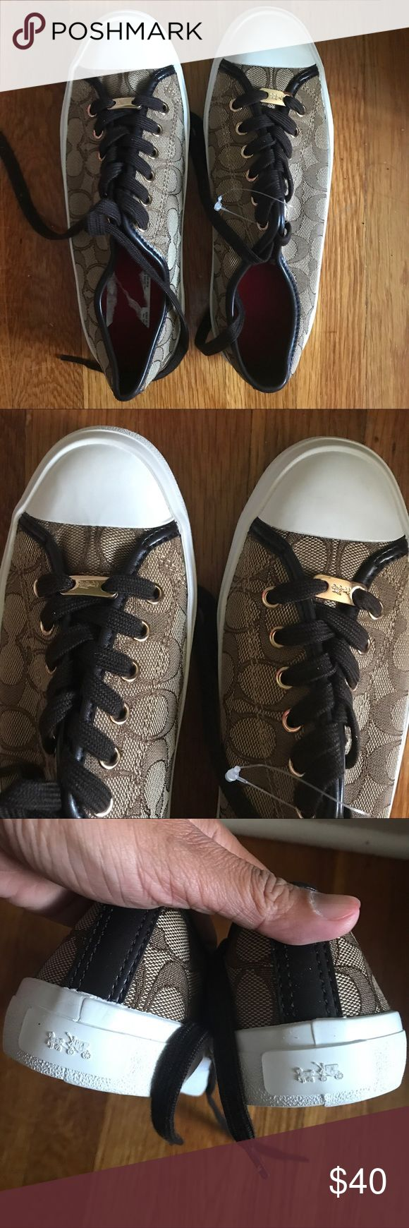 Brand new Coach Sneakers 8.5 Authentic Brand new Coach sneakers in brown. Make me an offer! Coach Shoes Sneakers
