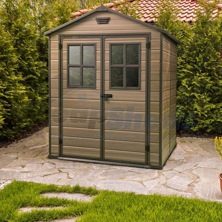 the scala 6x8 is a large size resin shed and manufactured to endure heavy weather conditions