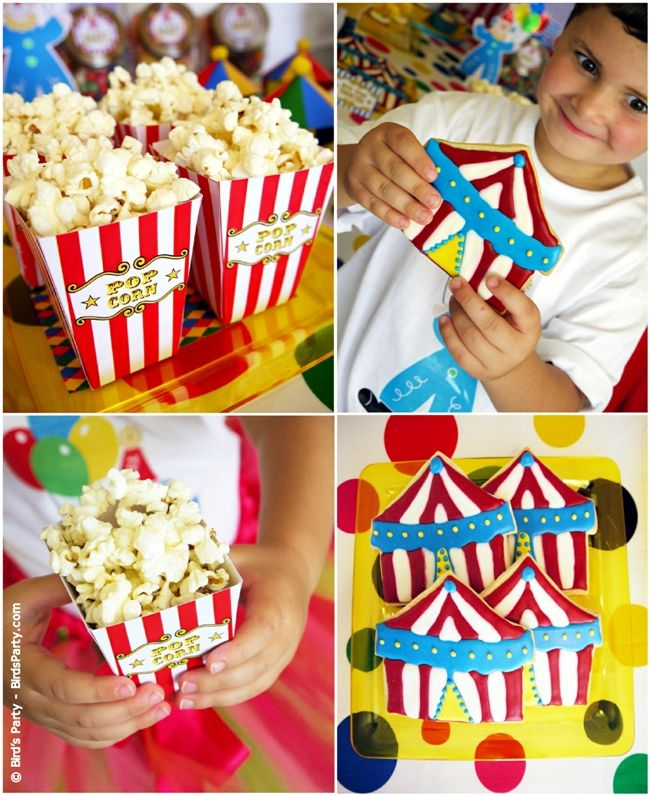 Circus Carnival Birthday Party Sweet And Desserts Table Ideas