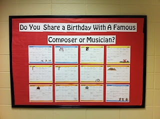 free- Learn Me Music: Music Bulletin Board - Composer and Musicians Birthdays | Music and Technology in Education