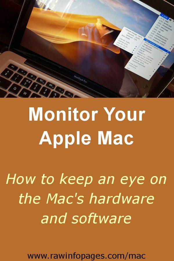 Monitor Apple Mac Hardware And Software With Miniusage Menu Bar