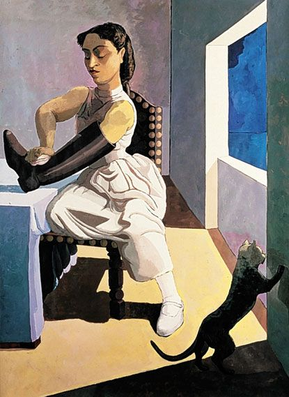 """Paula Rego's work is amazing. This is called """"The Policeman's Daughter""""."""