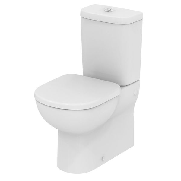 Ideal Standard Tempo Close Coupled Toilet WC with 4/2.6 Litre Dual Flush Push Button Cistern - Soft Close Seat 600mm Depth White £267.36 09/17