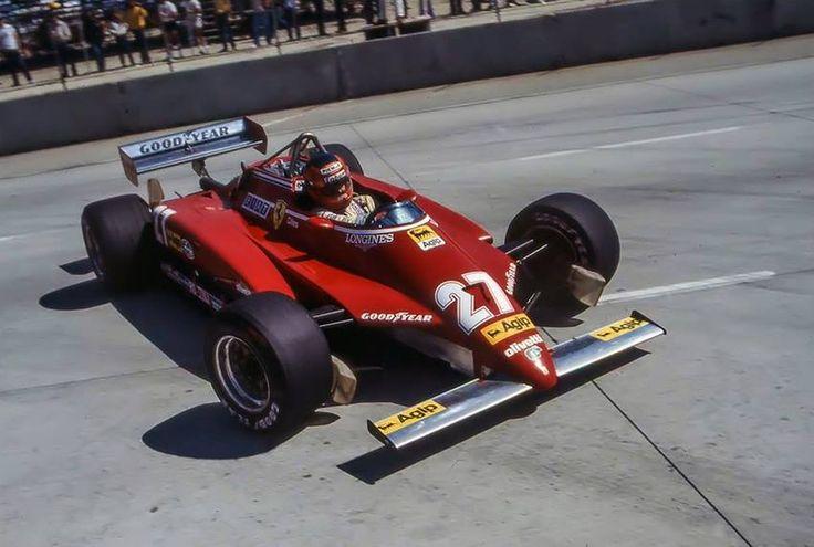 Gilles Villeneuve Long Beach 1982. Ferrari 126C2