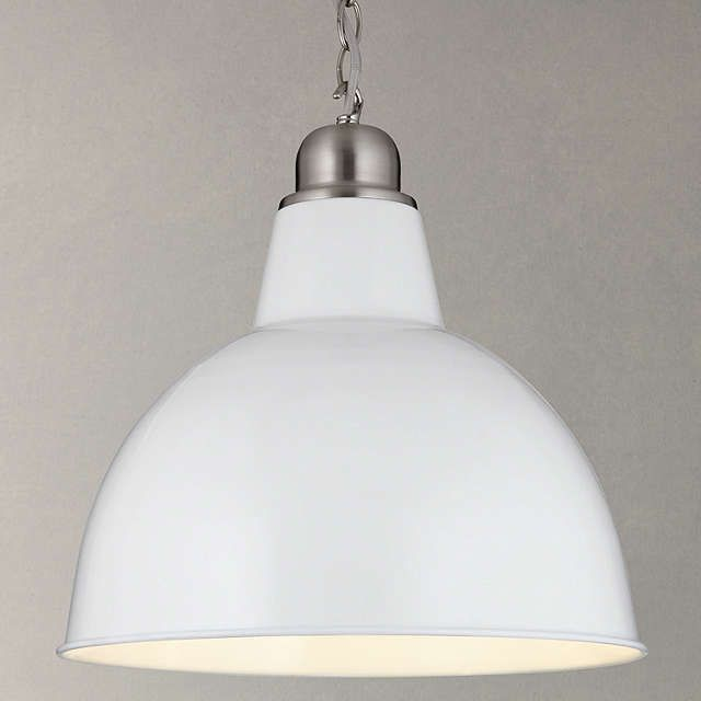 BuyJohn Lewis Croft Collection Aiden Factory Ceiling Light, White Online at johnlewis.com