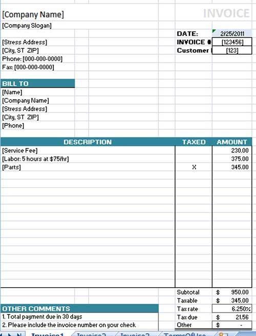 Best 25+ Microsoft word invoice template ideas on Pinterest - microsoft word receipt template free