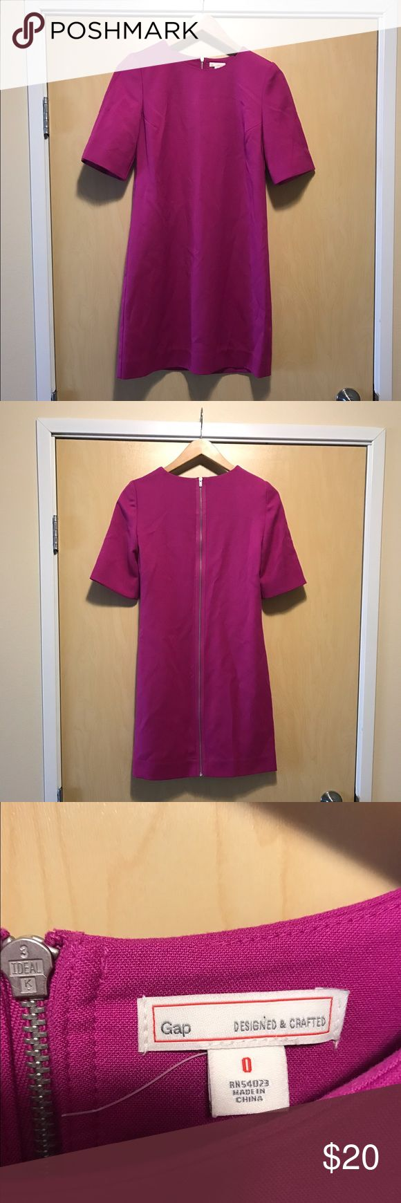 Magenta plus white how many tints can you create of the color magenta - Gorgeous Magenta Gap Dress Never Worn Magenta Dress With Full Back Zipper 67