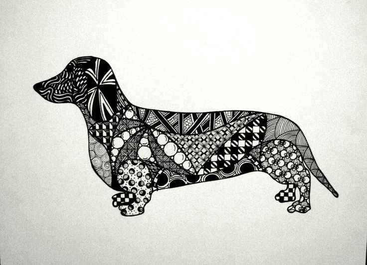 Fill in a silhouette of your favorite animal   Art ...