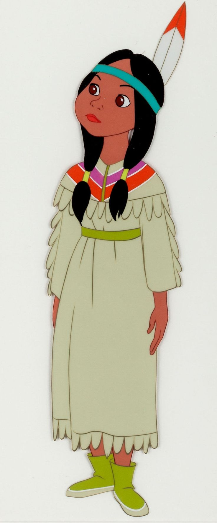 Tiger Lily animation cel from Peter Pan (1953). Via ha.com