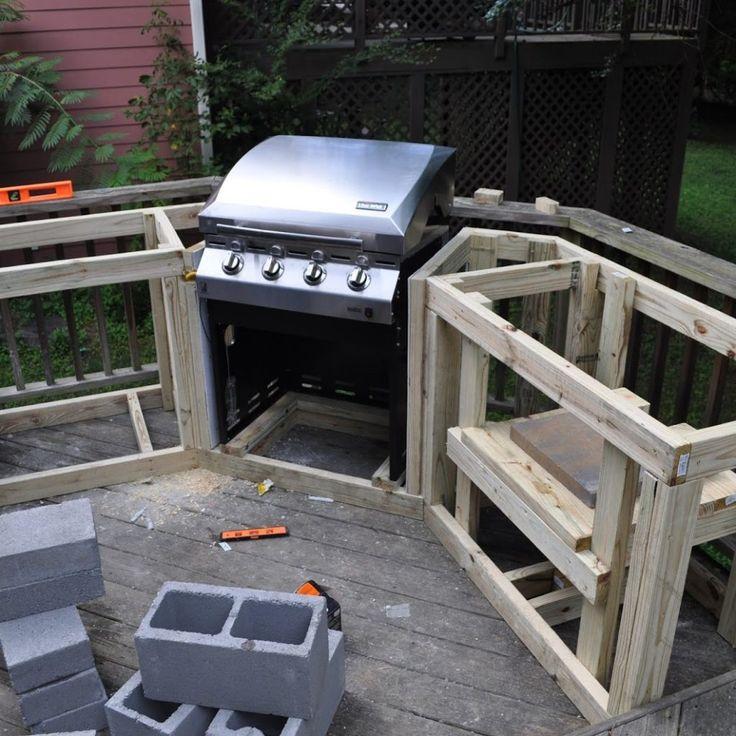 Diy Outdoor Kitchen Frames: Best 25+ Outdoor Grill Island Ideas On Pinterest
