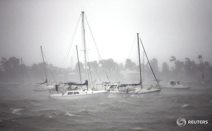 Boats are seen at a marina in South Beach as Hurricane Irma arrives at south Florida, in Miami Beach, Florida, U.S. September 10, 2017. REUTERS/Carlos Barria @carlosabarria #reuters #reutersphotos #irma #hurricaneirma #hurricane #weather #florida #boats