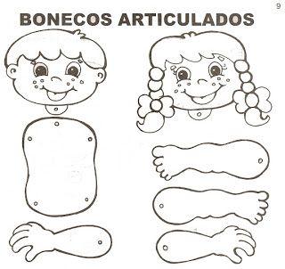 30 atividades com bonecos e bonecas articuladas para recorte e colagem e contação de histórias! - ESPAÇO EDUCAR