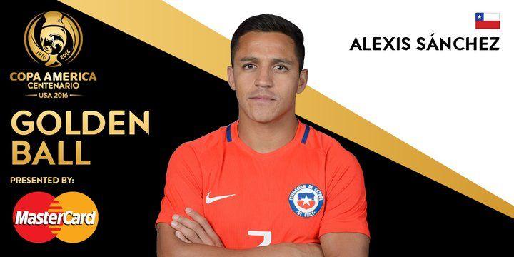 Alexis wins the Golden Ball award presented by MasterCard.