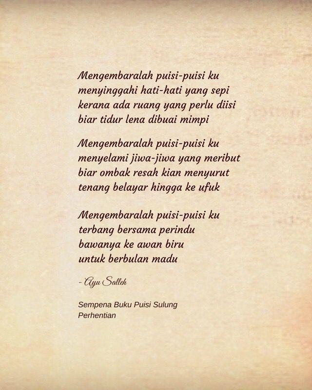 #puisi #perhentian #ayusalleh