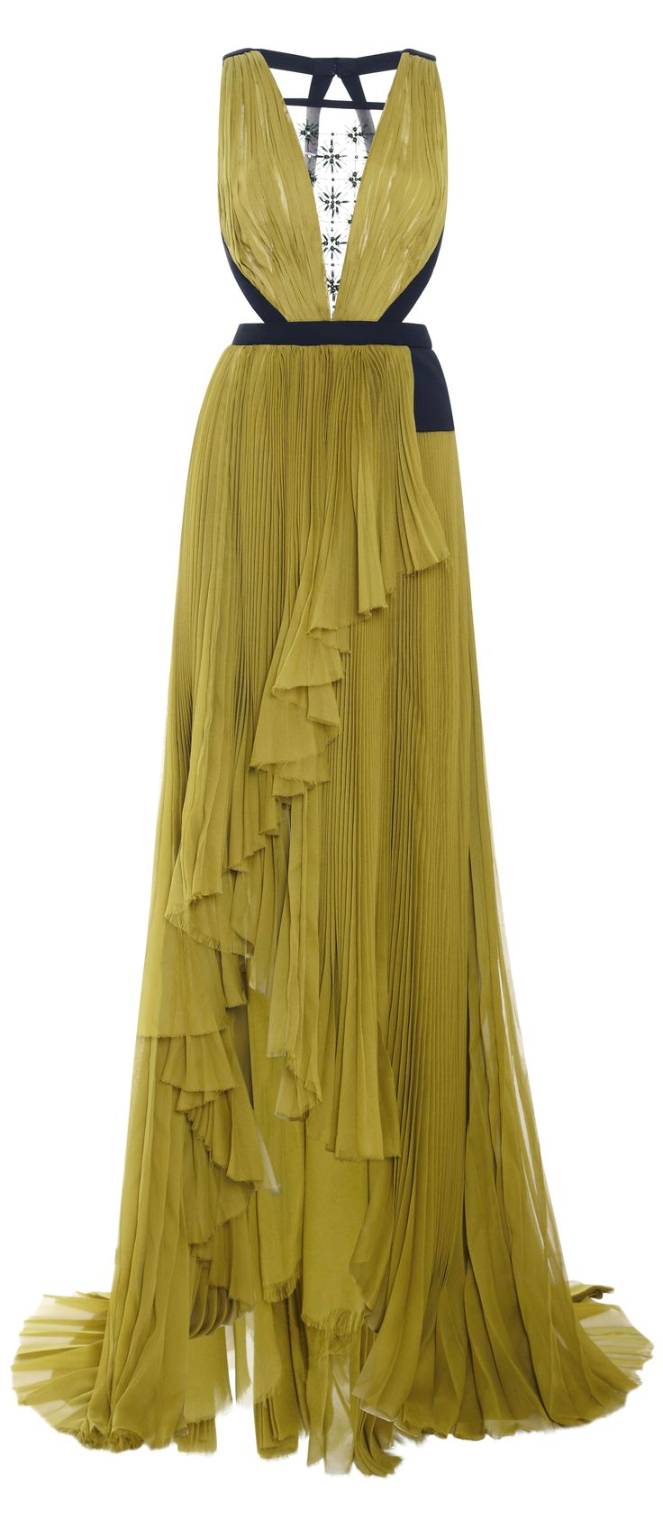J Mendel gown - the top of this is gorgeous....the bottom has too many frills for my liking but if its separated by a leg split then it might be ok