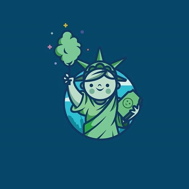 Statue of Liberty - Coton candy logo design made by @cpuentesdesign  #logoplace…