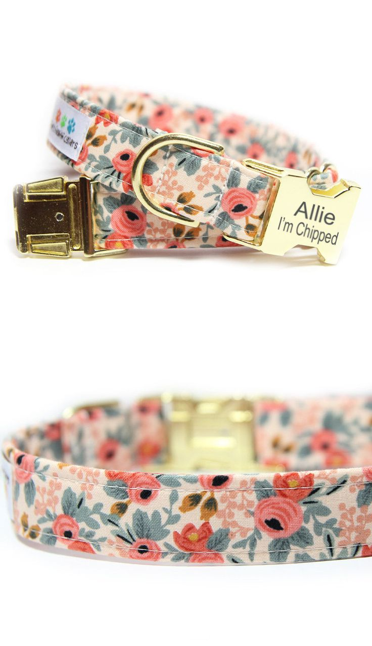 Floral Dog Collar - Tap the pin for the most adorable pawtastic fur baby apparel! You'll love the dog clothes and cat clothes! <3