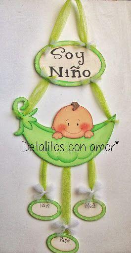 colgante para la puerta de la maternidad ツ https://www.facebook.com/pages/Detallitos-con-amor/226388200757614?ref=br_rs: