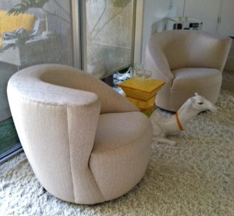 Vladimir Kagan Nautilus Chairs @ $ 5200 For The Pair | Vladimir Kagan |  Pinterest