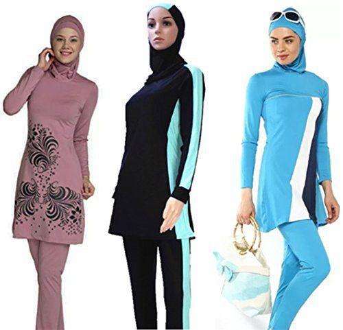 YEESAM® Muslim Swimsuit Islamic Full Cover Modest Swimwear Beachwear Burkini