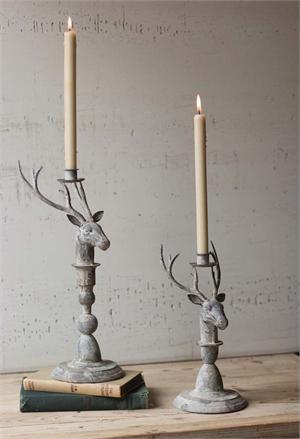 Rustic Metal Deer Candle Holders