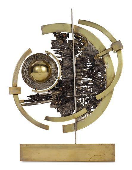 Arnaldo Pomodoro - STUDIO, 1967, silver and brass  1967