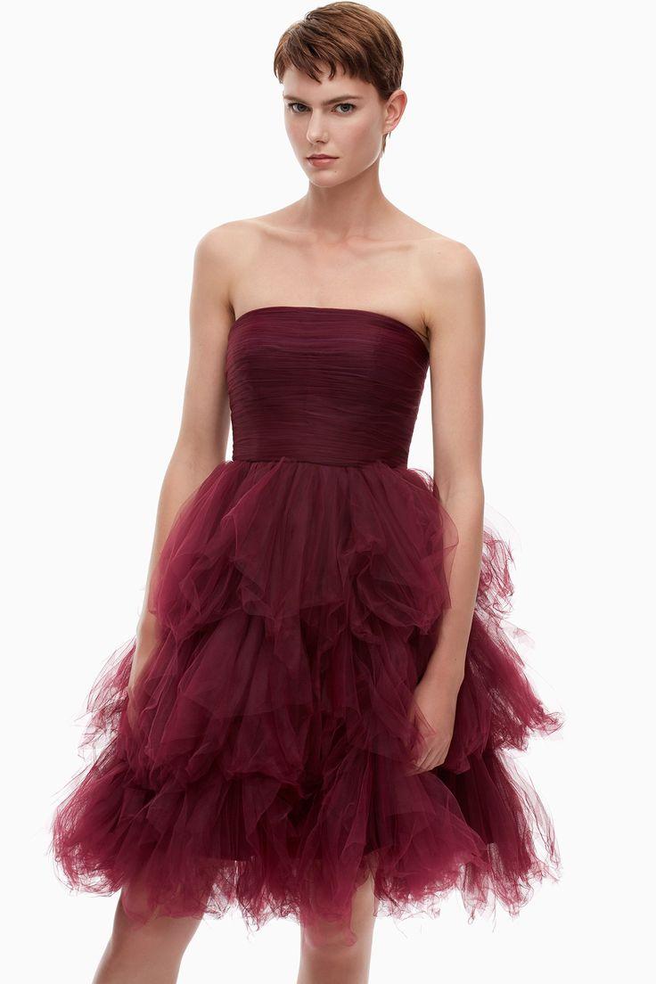 Vestido bailarina de tul y sat n colecci n adolfo for Adolfo dominguez vestidos outlet