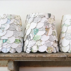 Have an old map lying around? All you need is a pair of scissors, lampshade, and some hot glue to make these upcycled map cutout lampshades!: Books Pages, Paper Lampshades, Lamps Shades, Old Maps, Chandeliers Shades, Maps Lampshades, Scrapbook Paper, Maps Cutout, Old Books