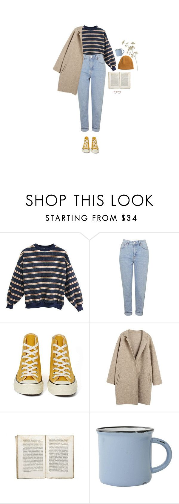 """""""in the clouds for days"""" by hetasdfghjkl ❤ liked on Polyvore featuring Topshop, Converse, Jayson Home, canvas and H&M"""