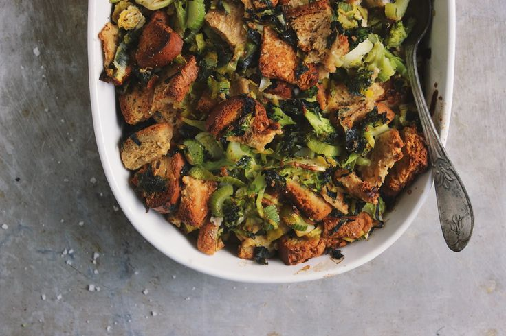 Stuffing loaded with super veggies! (Psst...you're family won't even be able to tell!)