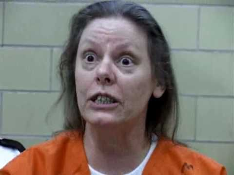 Aileen Wuornos gone insane. That she was executed was so wrong: she was obviously psychotic.