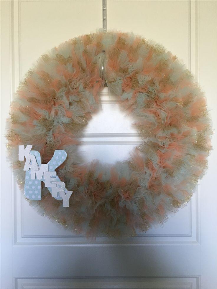Baby Kamery's wreath.