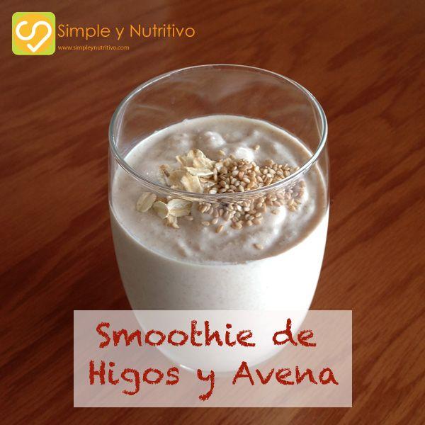 SMOOTHIE DE HIGOS Y AVENA