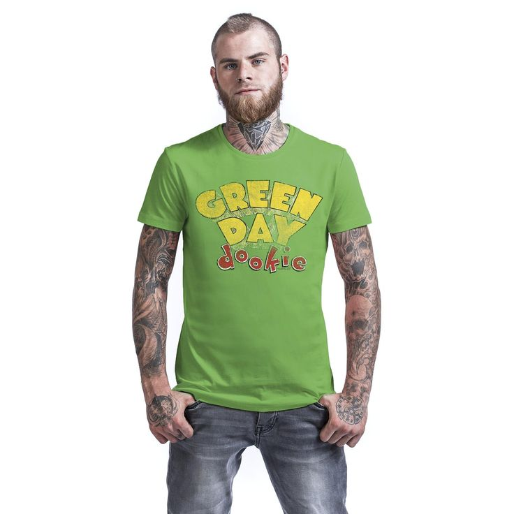 "Classica T-Shirt uomo verde ""Dookie"" dei #GreenDay."