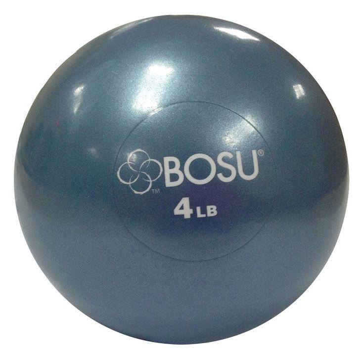 Bosu 4-lb. Medicine Ball and DVD Set, Blue